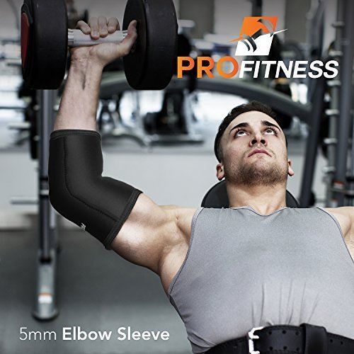 ProFitness-Weight-Lifting-Elbow-Sleeves-5mm-Thick-Neoprene-Elbow-Support-Compression-Braces-for-Weightlifting-Tennis-Sports-Prevent-Injuries-Tendonitis-Arthritis-Forearm-Pain-0-4