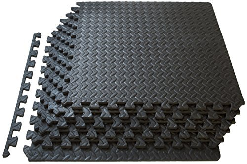 Prosource-Fit-Puzzle-Exercise-Mat-EVA-Foam-Interlocking-Tiles-Protective-Flooring-for-Gym-Equipment-and-Cushion-for-Workouts-0