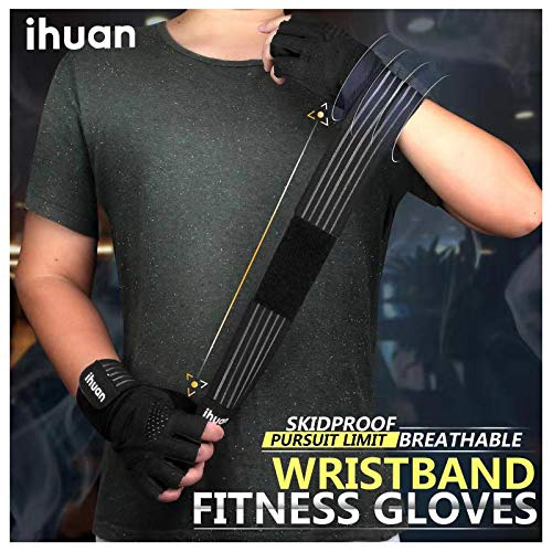 Updated-2019-Version-Professional-Ventilated-Weight-Lifting-Gym-Workout-Gloves-with-Wrist-Wrap-Support-for-Men-Women-Full-Palm-Protection-for-Weightlifting-Training-Fitness-Hanging-Pull-ups-0-0