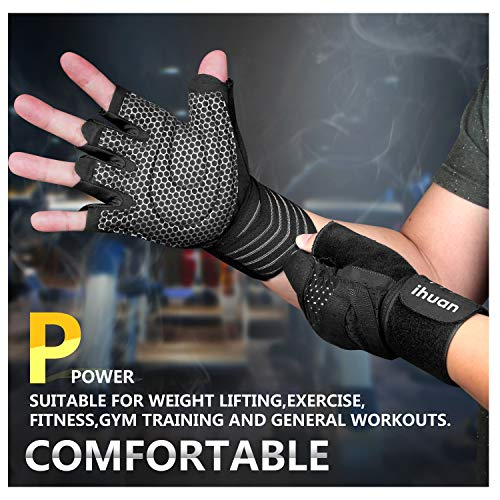 Updated-2019-Version-Professional-Ventilated-Weight-Lifting-Gym-Workout-Gloves-with-Wrist-Wrap-Support-for-Men-Women-Full-Palm-Protection-for-Weightlifting-Training-Fitness-Hanging-Pull-ups-0-1