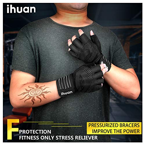 Updated-2019-Version-Professional-Ventilated-Weight-Lifting-Gym-Workout-Gloves-with-Wrist-Wrap-Support-for-Men-Women-Full-Palm-Protection-for-Weightlifting-Training-Fitness-Hanging-Pull-ups-0-2