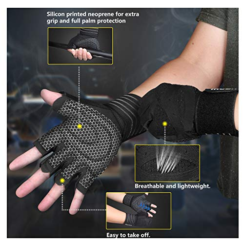 Updated-2019-Version-Professional-Ventilated-Weight-Lifting-Gym-Workout-Gloves-with-Wrist-Wrap-Support-for-Men-Women-Full-Palm-Protection-for-Weightlifting-Training-Fitness-Hanging-Pull-ups-0