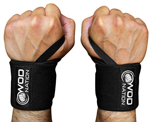 WOD-Nation-Wrist-Wraps-Wrist-Support-Straps-12-or-18-Fits-Both-Men-Women-Strength-Training-Weightlifting-Powerlifting-Lift-Heavier-Weight-Free-Carrying-Bag-Included-0