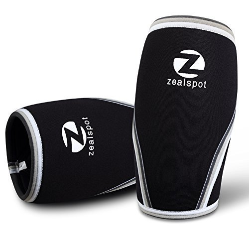 Z Zealspot Knee Sleeves 1 Pair Compression Support For Weightlifting Wod Squats Gym Powerlifting Crossfit 7mm Neoprene Knee Brace Both Women Men Black Or Blue Home Workout Habit Your Source For The