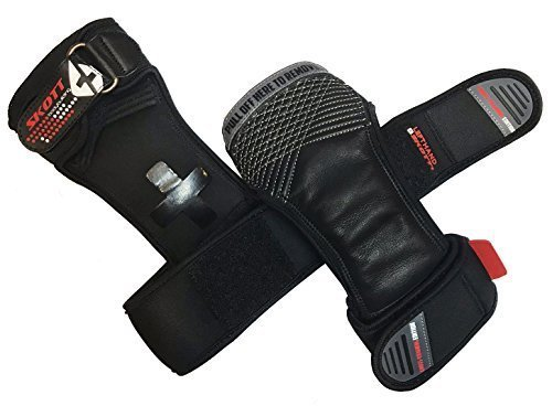 skott-New-Elite-Ventilated-Pads-for-Cross-Fit-Weight-Lifting-with-Integrated-Wrist-Wraps-Padded-Palm-for-Grip-and-Protection-Best-Gym-Gloves-for-Fitness-Weightlifting-WOD-Cross-Training-0-3